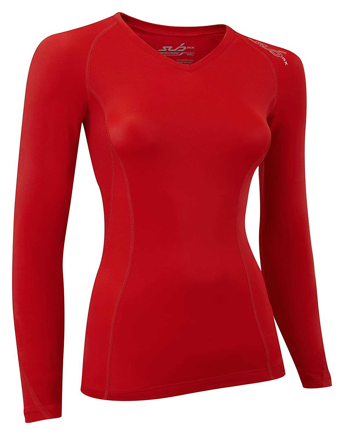サブElite RXレディースGraduated Compression Top – Long Sleeve Base Layer B00NAYMU6K X-Large|Red Stealth Red Stealth X-Large