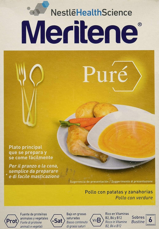 MERITENE Pure pollo con patatas y zanahorias 6 sobres