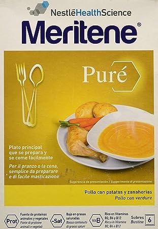 MERITENE Pure pollo con patatas y zanahorias 6 sobres: Amazon ...
