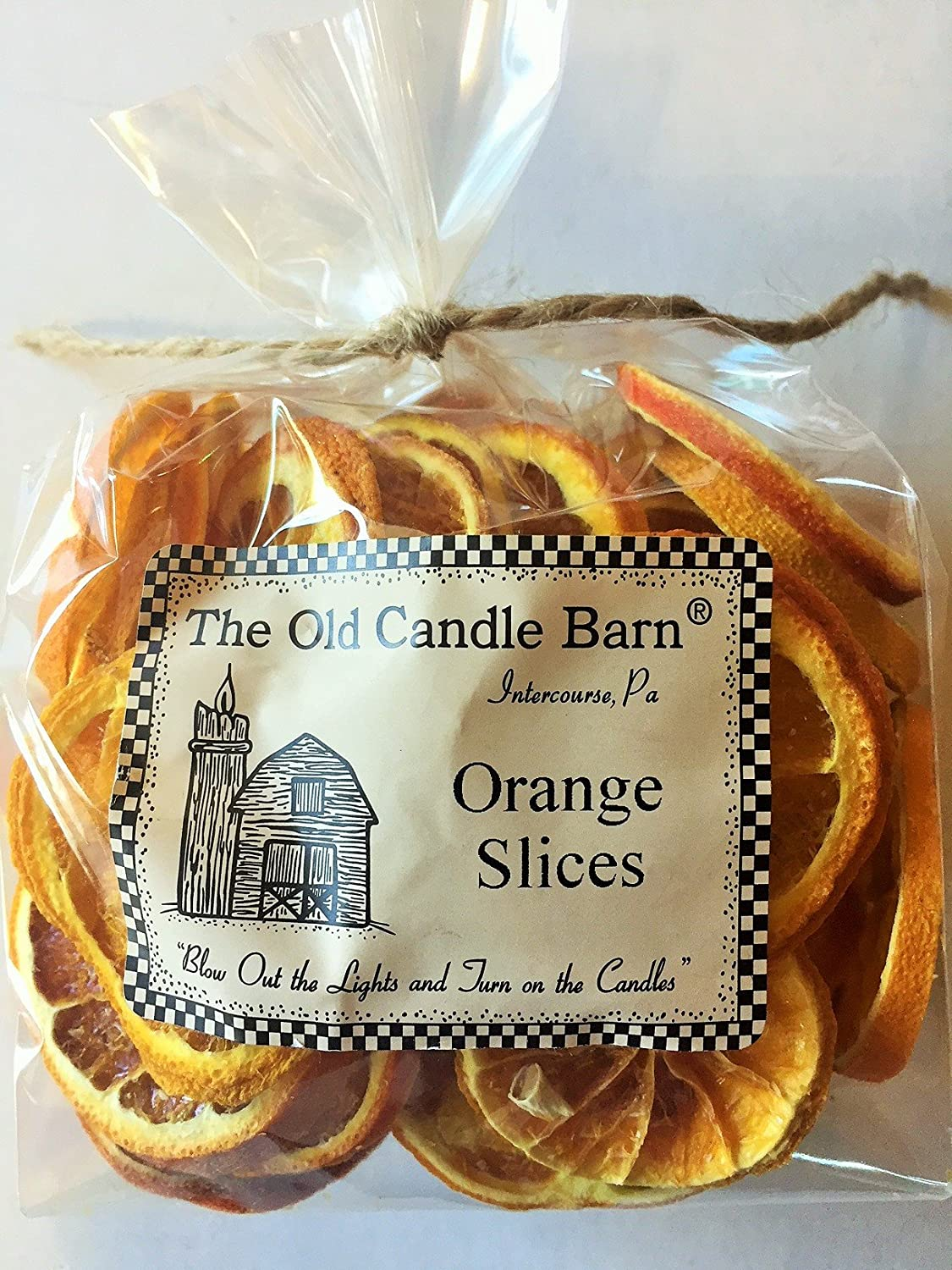 Old Candle Barn Dried Orange Slices for Crafting, Potpourri, or Decorative Bowl Filler - 2 Cup Bag