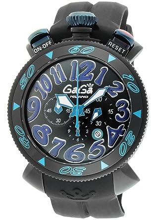 hot sale online 11391 b5290 Amazon | [ガガミラノ]GaGa MILANO 腕時計 クロノ48mm ブラック ...