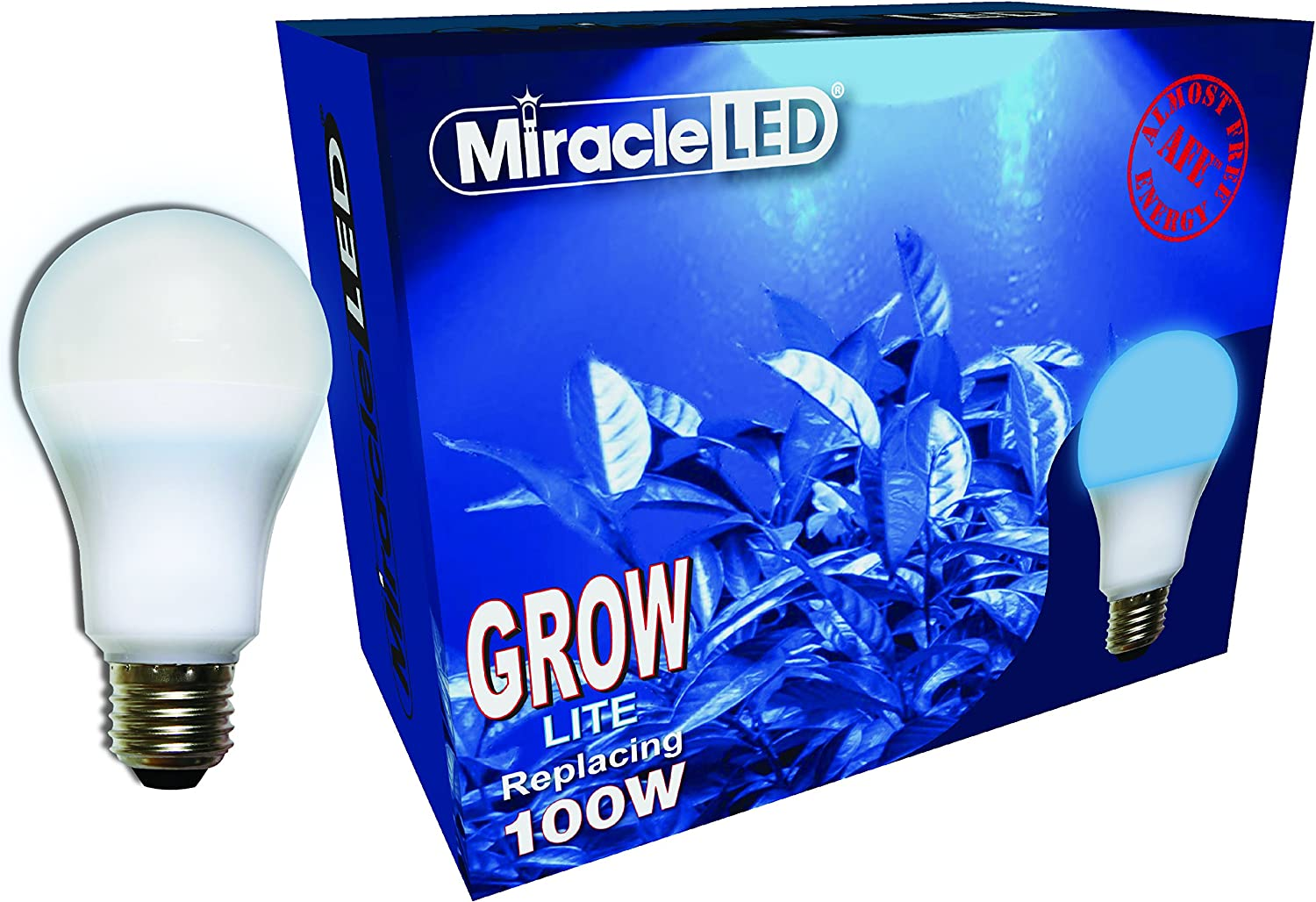 Miracle LED Almost Free Energy 100W Growth Starter Blue LED Grow Lite - Blue Light for Seed Starting and Strong Plant Stems in DIY Horticulture, Hydroponics, and Indoor Gardens (604291) Single Pack