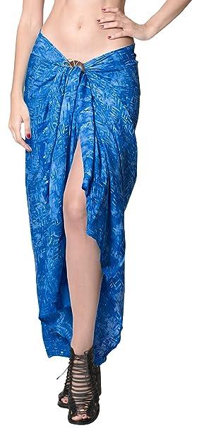 """5003519b2a3b LA LEELA Rayon Hawaiian Beach Dress Wrap Sarong Printed 78""""X43""""  ..."""