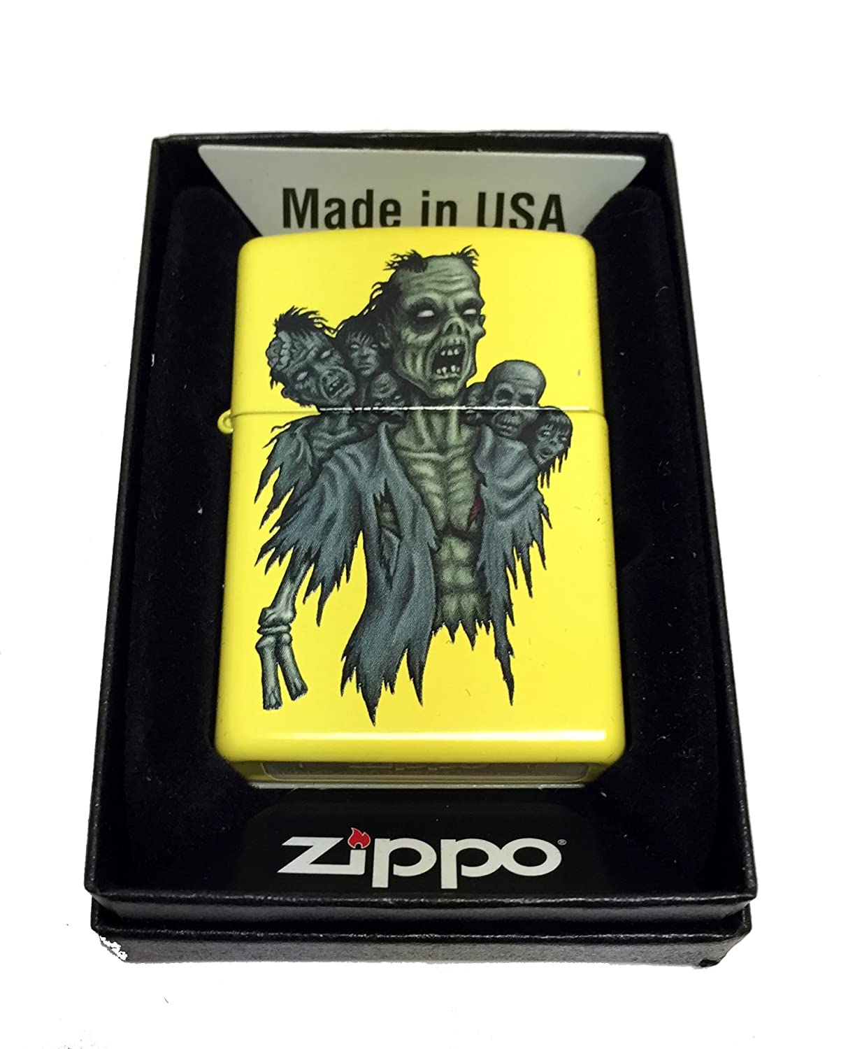 Amazon com zippo custom lighter zombie horde regular lemon matte health personal care