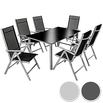 Amazon.de: TecTake Aluminium Sitzgarnitur 6+1 Sitzgruppe Gartenmöbel ...