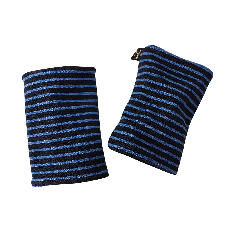 (15BM367) Pulswärmer, Kurz-Stulpen ROYAL BLUE Label brit-M, Handgearbeitet in unserem Atelier in Deutschland (15BM367) Pulswärmer