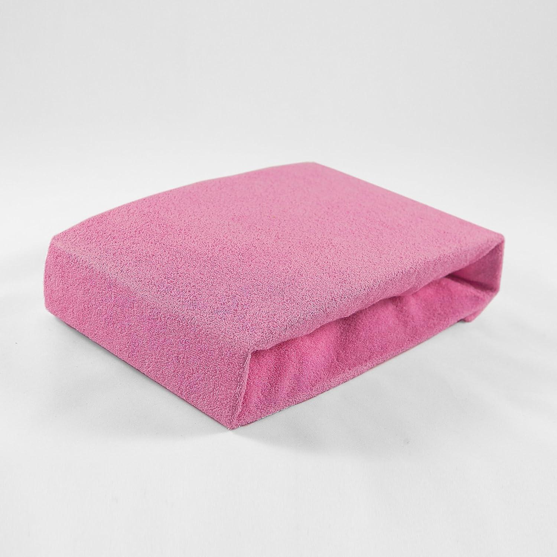 KiNDERWELT Baby Schaumkernmatratze Comfort gesteppt Babymatratze Matratze 40 x 90 wei/ß 2 Frottee Spannbettt/ücher rosa