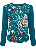 oodji Ultra Mujer Suéter con Estampado de Tejido Texturizado