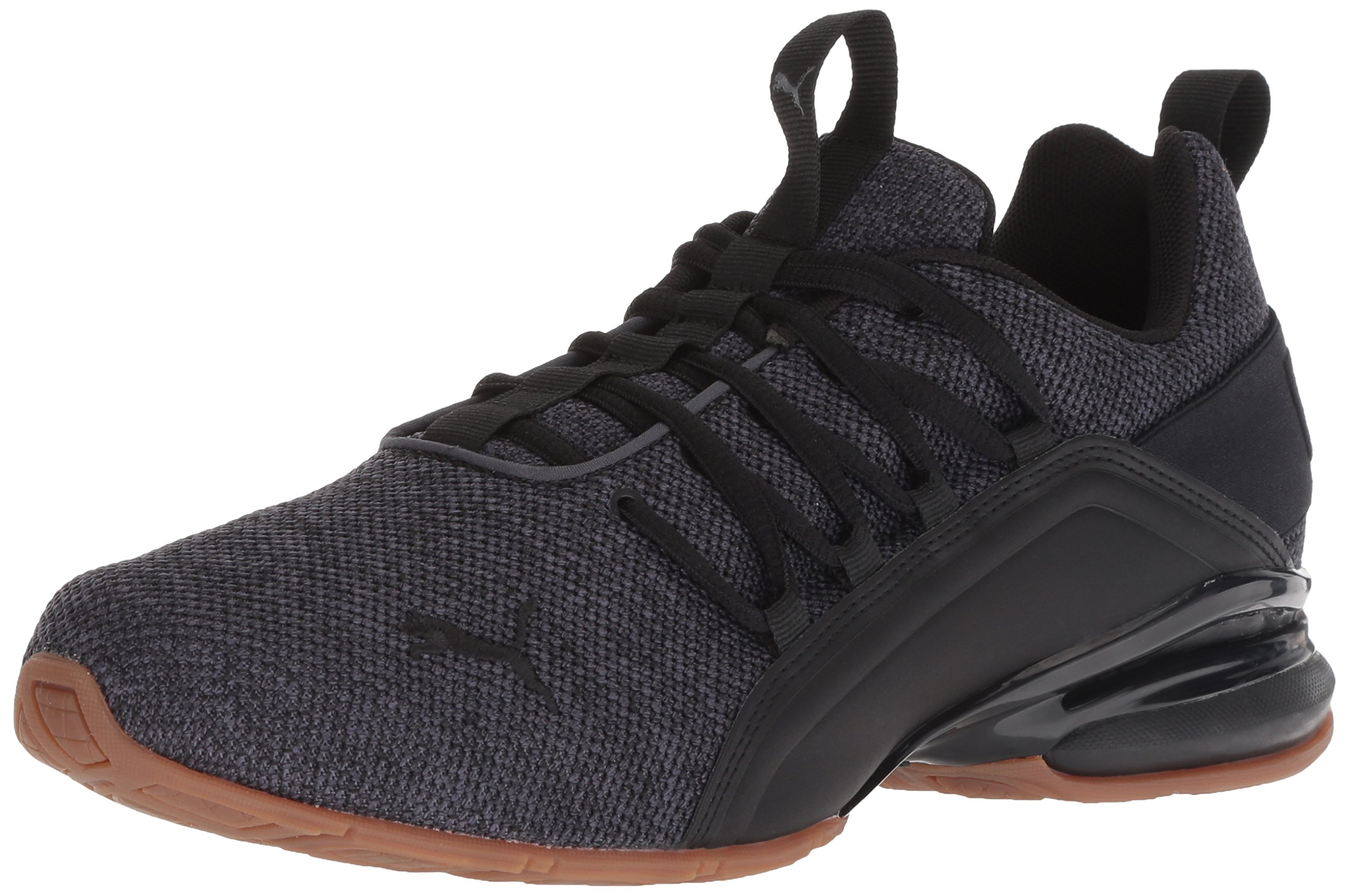 PUMA Men's Axelion Sneaker, Asphalt Black, 10.5 M US