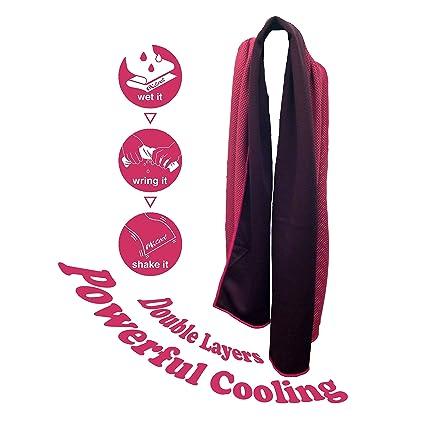 """Toalla Enfriadora Evaporadora Refrescante MKcool (rosado, 30*80cm): Usa """"Coolcore"""