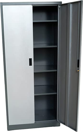 Amazon Steel Storage Cabinet 71 Tall Lockable Doors And