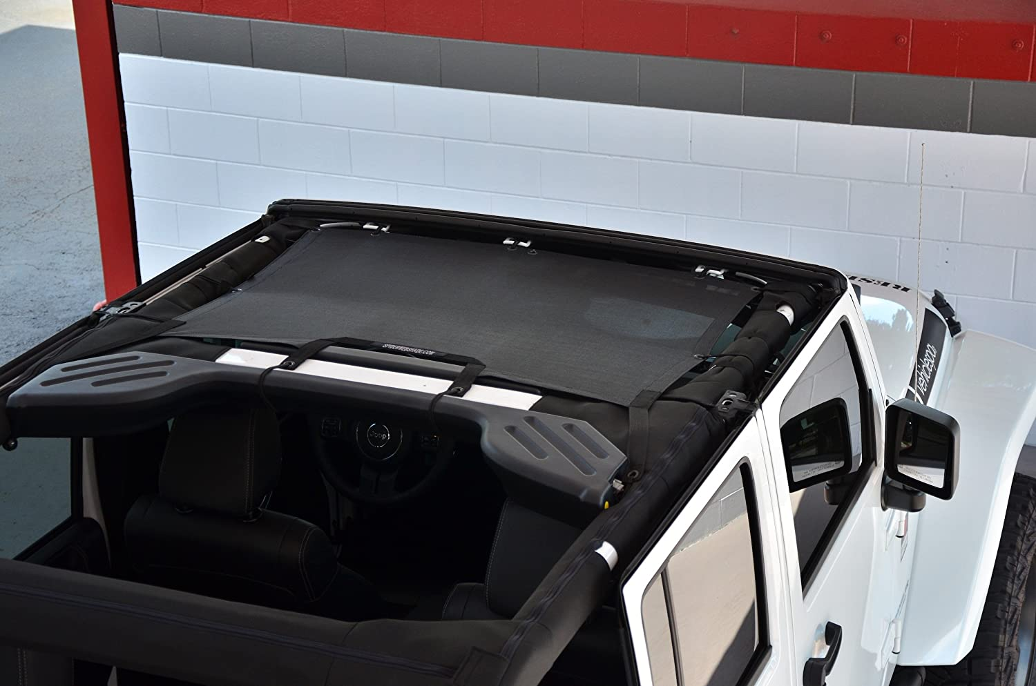 Spiderwebshade Jeep Wrangler Jkini Mesh Shade Top Install Freedom Sunshade Uv Protection Accessory Usa Made With 5 Year Warranty For Your Jk 2 Door And Jku
