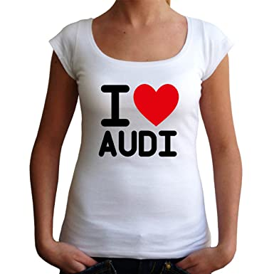 T I Damen ShirtWeissSBekleidung Love Audi exBdCo