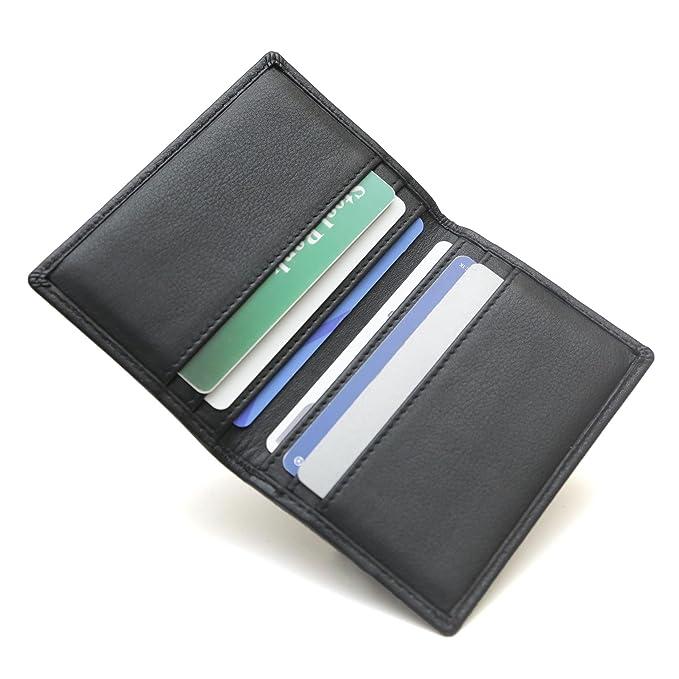 rfid wallet 6 slot bifold card holder rfid blocking wallets for men leather secure - Bifold Card Holder