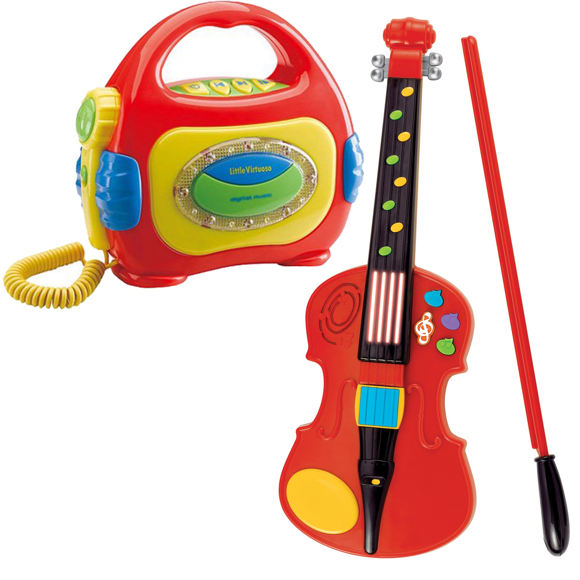 Little Virtuoso Fun Fiddle Little Violin Musical Kids Instruments Activity Toy with Sing Along MP3 Player