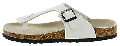 Beppi Damen Pantoletten Hausschuhe Zehentrenner mit BioComfort-Fußbett, Schwarz, Größe: 37