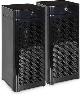 Medify MA-40 2.0 Medical Grade Filtration H13 True HEPA for 840 Sq. Ft. Air Purifier, 99.97% | Modern Design - Black (2-Pack)