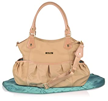 e344188c3a Amazon.com   Luxury Diaper Bag in Stylish Camel Sand Color