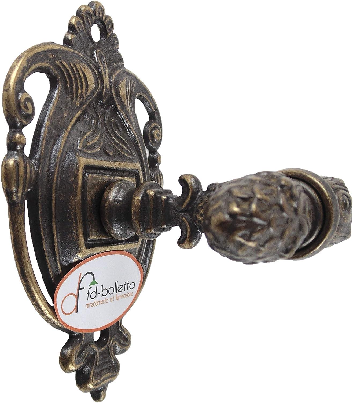 Accessori bagno,attaccapanni ottone brunito in stile impero,appendiabito accessorio per il bagno,appendino in ottone invecchiato,oggetto per il bagno wc12 Misure H11cm,L7cm,sporgenza 8cm
