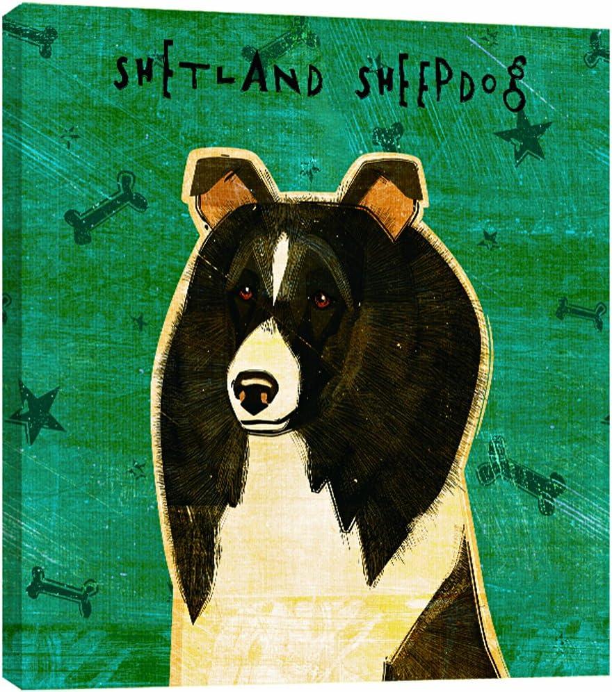 Tree-Free Greetings 84047 Eco Art Wall Plaque 11.25 by 11.25 by 0.5-Inch Black and White Shetland Sheepdog