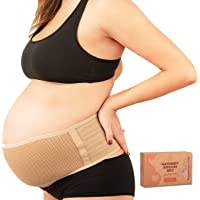KeaBabies Maternity Belly Band for Pregnancy - Soft & Breathable Pregnancy Belly Support Belt - Pelvic Support Bands…