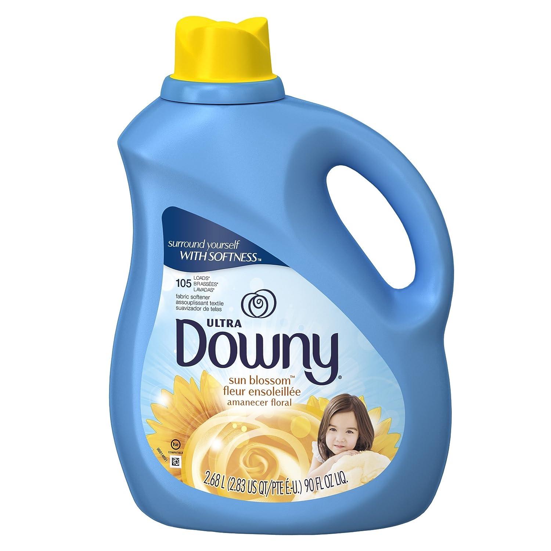 Amazon.com: Downy Ultra Sun Blossom Liquid Fabric Softener Liquid 105 Loads, 90-Ounce: Health & Personal Care