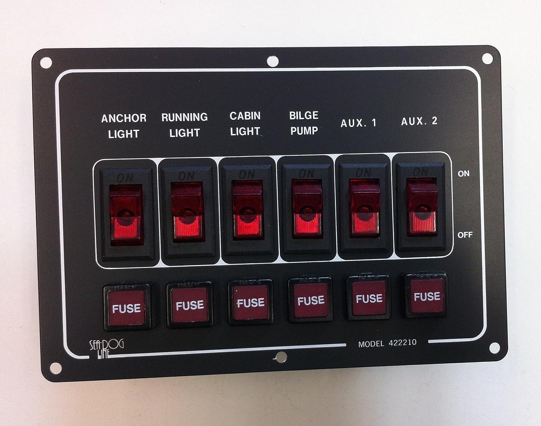 6 Circuit Switch Panel, Horizontal SEA DOG CECOMINOD049678 354-4222101