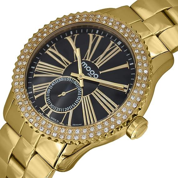Moog Paris Damen Uhr Analog mit Edelstahl Armband M45232-006  Amazon ... 827b450181
