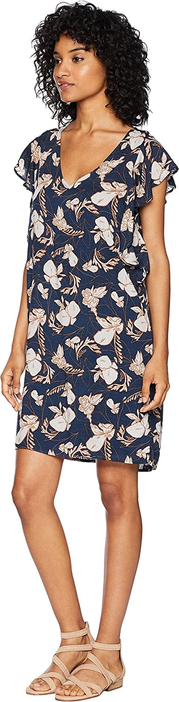 Splendid Womens Ramo Floral Print Ruffle Dress