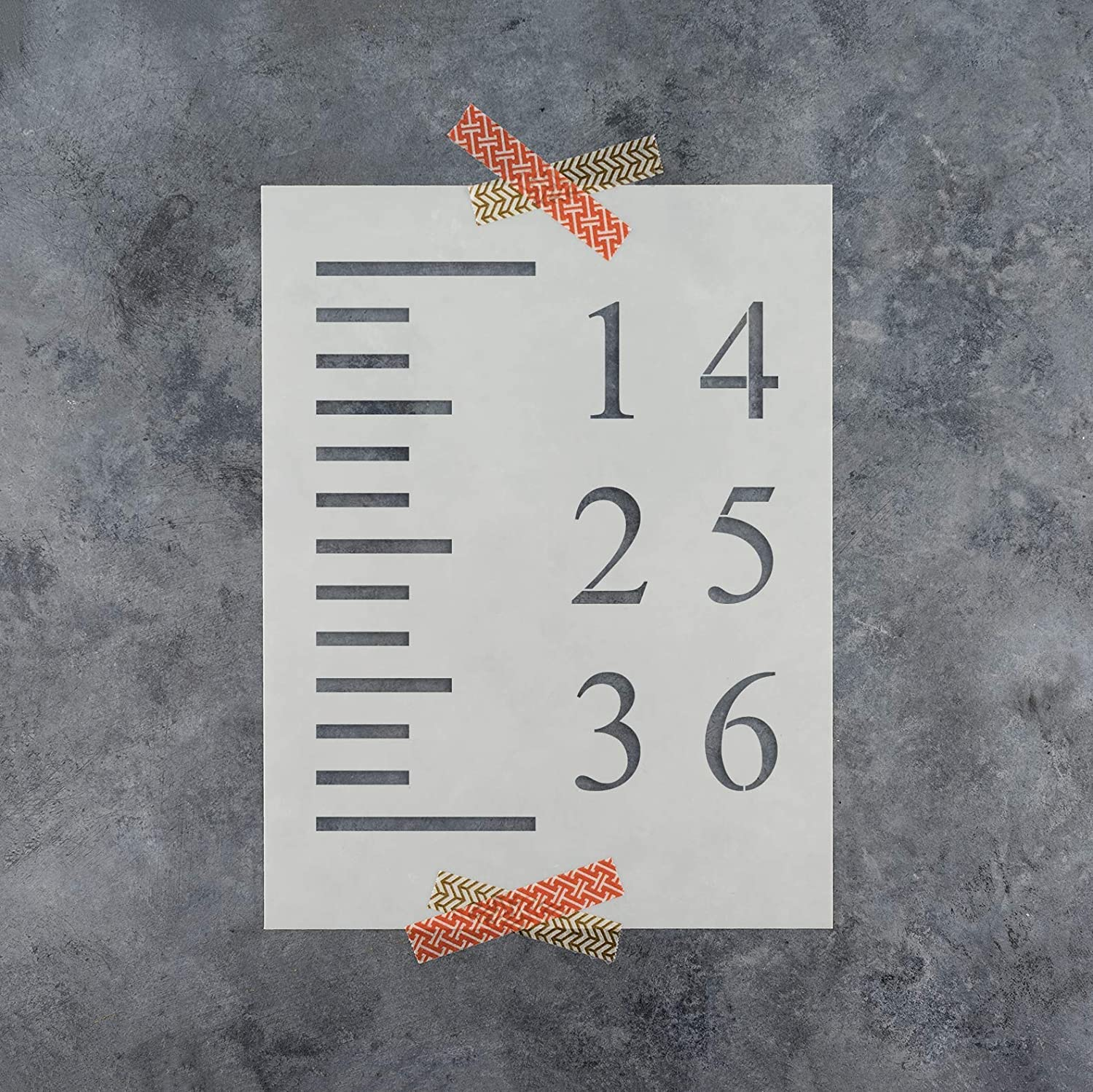 Better Than Decals! Reusable Stencil for Growth Chart Rulers Growth Chart Stencil Template