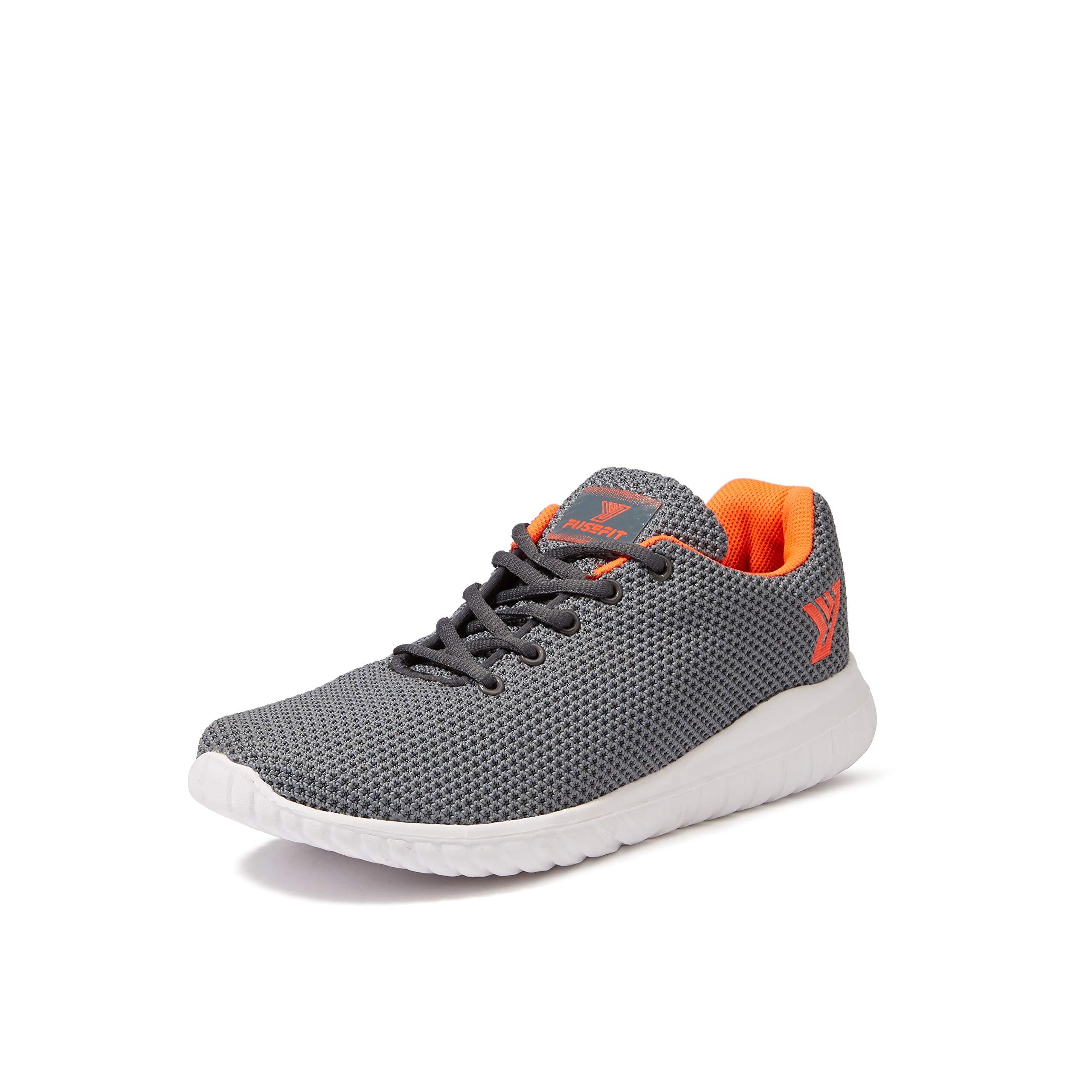 Amazon Price History for Fusefit Men's Duke Dk Grey/Orange Running Shoes-6 UK/India (40 EU) (FFR-129)
