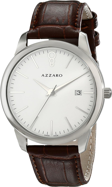 Azzaro Men s AZ2040.12AH.000 Legend Analog Display Swiss Quartz Brown Watch