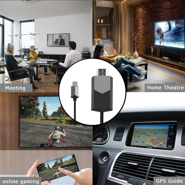 4K USB Type C to HDMI HDTV AV TV Cable Adapter Upgraded Version LFJNET