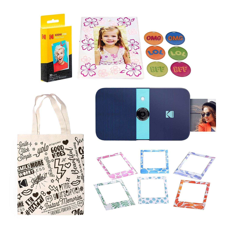 KODAK Smile Impresora Digital instantánea (Azul) Kit de ...