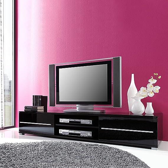 TEMPO III high gloss TV Cabinet (Black gloss): Amazon.co.uk: Kitchen ...
