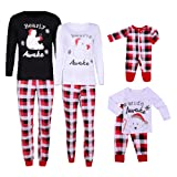 Amazon Price History for:VIEWIM Bearly Awake Letter Print Plaid Christmas Matching Pajamas Sets Sleepwear
