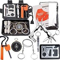 Survival Kit EMDMAK Outdoor Emergency Gear Kit for Camping Hiking Travelling or Adventures (Black)