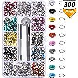 300 Stücke Ösen Kit Metallösen Schuhe Kleidung Handwerk, 10 Farben (3/16 Zoll)