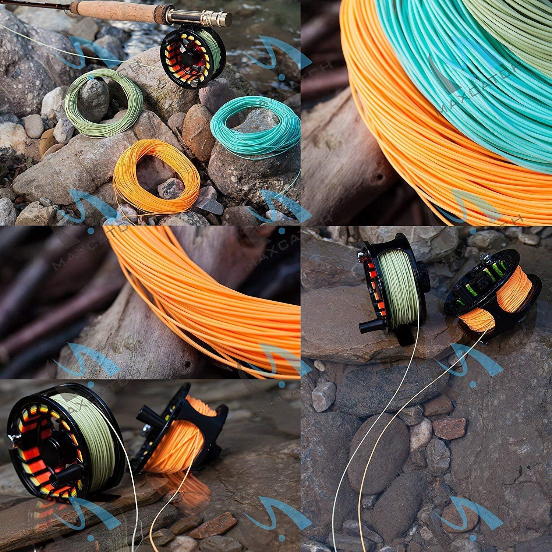 MAXIMUMCATCH Fliegenschnur mit geschwei/ßten/Schlaufen WF Schwimmschnur WF3F//4F//5F//6F//7F//8F sechs Farbe auszuw/ählen 100ft