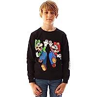 Super Mario Sweatshirt Luigi Character zwarte jongens trui met lange mouwen
