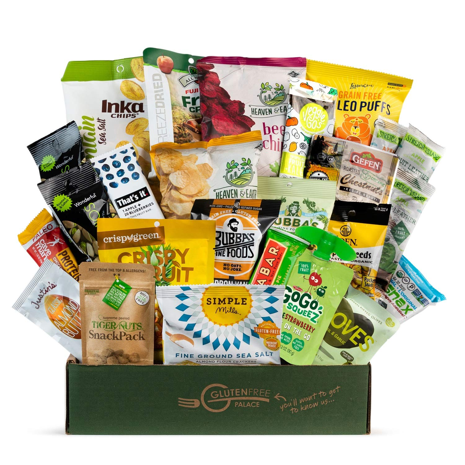 PALEO SNACKS Variety Pack for Adult | Healthy Snack Box [25 Count] EASTER GIFT BASKET GLUTEN FREE | Mix of Whole Foods, Protein Bars, Crackers, Chips, Puffs, Fruit & Nuts by Snack Attack