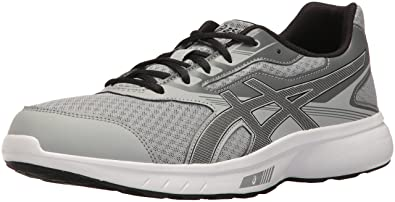 ASICS Men's Stormer Running-Shoes, Mid Grey/Black/Carbon, 10 Medium