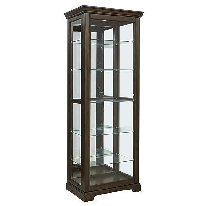 Groovy Pulaski Locking Sliding Door Curio Display Cabinet 29 25 L X 19 5 W X 80 0 H Cherry Download Free Architecture Designs Embacsunscenecom