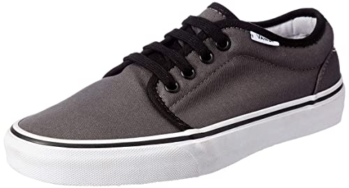 26add0e3b78ae5 Vans Unisex 106 Vulcanized Pewter and Black Leather Sneakers - 10 UK India  (44.5