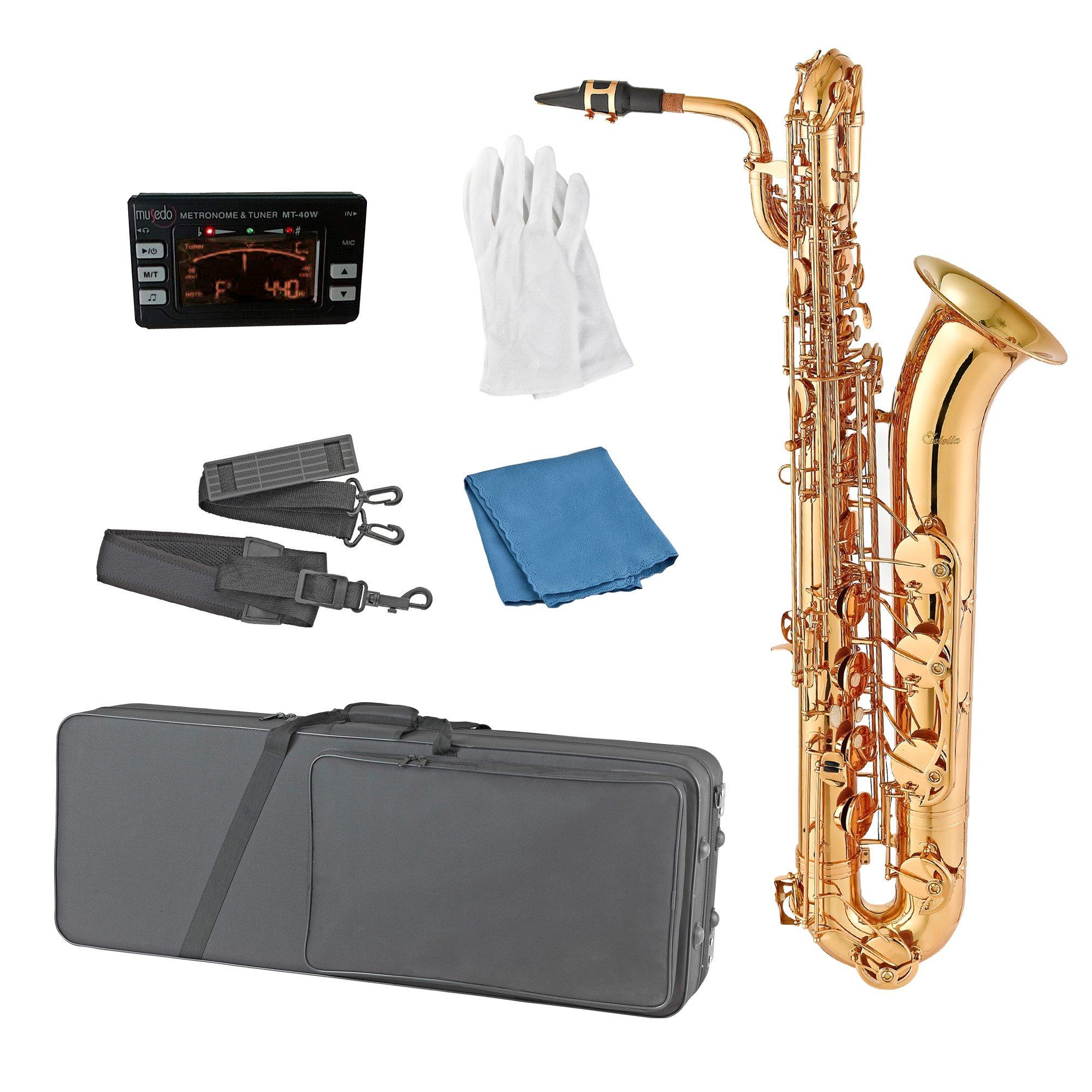 Estella BS200 Lacquer E Flat Baritone Saxophone by Estella