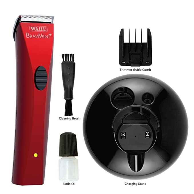 Amazon.com: Wahl Professional Animal BravMini+ Pet Trimmer for Dogs Cats and Horses #41590-0437: Pet Supplies