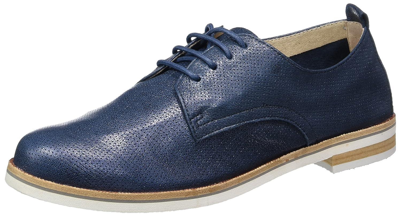 Caprice 23200, Zapatos de Cordones Oxford para Mujer 39 EU|Azul (Ocean Metallic)