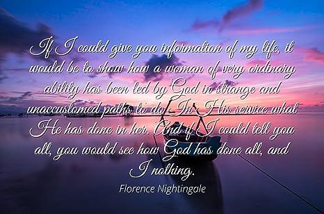 Amazoncom Florence Nightingale Famous Quotes Laminated Poster