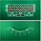 YH Poker Roulette and Blackjack 2-Sided Casino Table Felt Layout