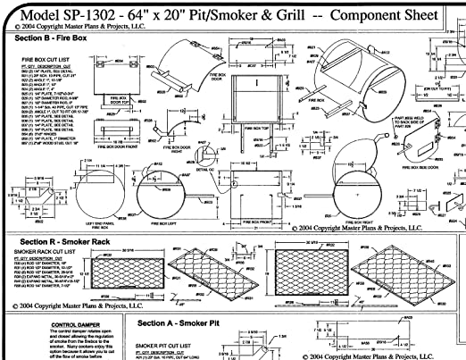 Amazon 64 x 20 bbq smokerpit grill plans blueprints amazon 64 x 20 bbq smokerpit grill plans blueprints model sp 1302 automotive malvernweather Choice Image
